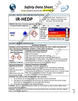 IR HEDP SDS